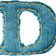Royalty-Free Stock Vector Image: Handmade letter of jeans alphabet