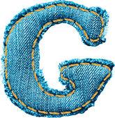 Handmade letter of jeans alphabet — Stock Vector