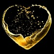 Valentine heart made of blue water splash isolated on white back — Stock Photo #21806293
