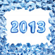 2013 sign in ice frame — Foto de Stock