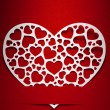 Stock Photo: Valentine day card paper cutting design, Vintage papercraft them
