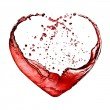 Valentine heart made of blue water splash isolated on white back - Stock Photo