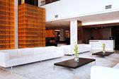 Lobby interior in hotel — Stock Photo