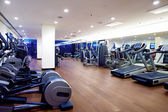 Fitness gym with sports equipment — Stok fotoğraf