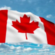 Canada flag waving against time-lapse clouds background - Stock Photo