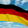 Stock Video: German flag waving against time-lapse clouds background