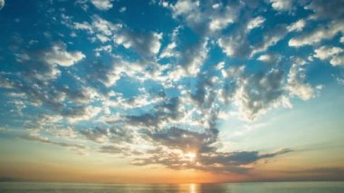Sunrise over the ocean time lapse — 图库视频影像 #21806279