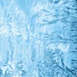 Frosty pattern on window in winter season — Stock Photo #21811885