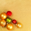Abstract Christmas gold background — Stock Photo