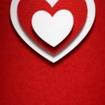 Valentine day card paper cutting design, Vintage papercraft them — Stock Photo