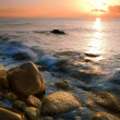 Beach and sea sunset - Foto Stock