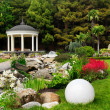 Stock Photo: Spring flowers in the Asian garden