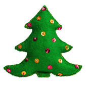Christmas tree handmade toy — Stock Photo