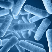 Bacteria background render — Stock Photo