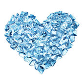 Heart from ice with bubbles — Stock Photo