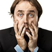 Biznesmen, zmęczony z kryzysu — Zdjęcie stockowe