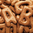 Cookie alphabet background — Stock Photo