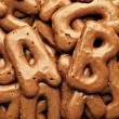 Cookie alphabet background - Stok fotoğraf