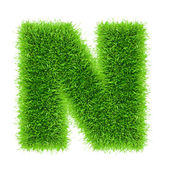 Letter of grass alphabet — Stock Photo