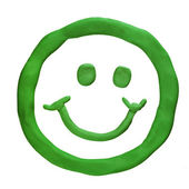 Plasticine smiling face — Stock Photo