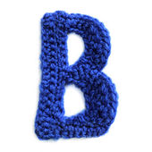 Letter of knit alphabet — Stock Photo