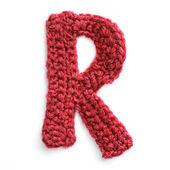 Letra del alfabeto del knit — Foto de Stock