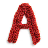 Letter of knit alphabet — Stockfoto