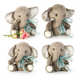 Handmade elephant in classic vintage style - Stock Photo