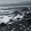 Sea monochrome landscape - Stock Photo