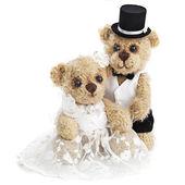Teddy bear wedding couple — Stock Photo