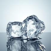 Ice cubes minimalistic background — Stock Photo