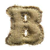 Ročník plátna b dopis izolované na bílém — Stock fotografie