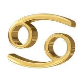 Horoscope: golden sign of the zodiac - Cancer — Stock Photo