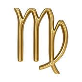 Horoscope: golden sign of the zodiac - Virgo — Stock Photo