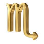 Horoscope: golden sign of the zodiac - Scorpio — Stock Photo