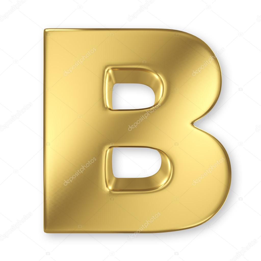 B Letter In Gold Letter B from gold sol...