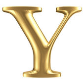 Golden matt letter Y, jewellery font collection — Stock Photo
