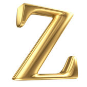 Golden matt letter Z in perspective, jewellery font collection — Stock Photo