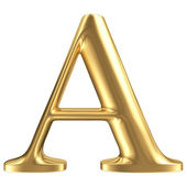 Golden matt letter A, jewellery font collection — Stock Photo
