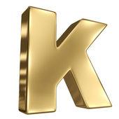 金固体字母表中的字母 k — 图库照片