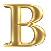 Golden matt letter B, jewellery font collection — Stock Photo