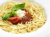 Delicious healthy spaghetti bolognese — Stock Photo