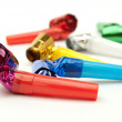 Birthday whistles — Stock Photo
