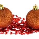 Two Christmas balls isolated on white — Stock Photo #1296316