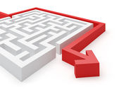 Maze Puzzle Solution — Stock Photo