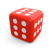 Red Dice that Always Win — Stock Photo