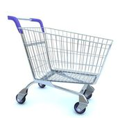 Empty used shopping trolley — Stock Photo