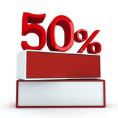 50 percent on two boards — Stock Photo
