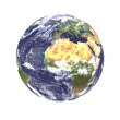 Planet earth with some clouds. — Stock Photo