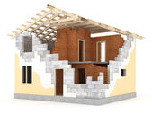 Architecture model house showing building structure — Stock Photo